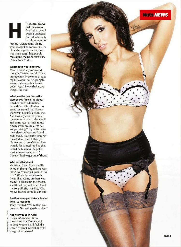 Rebecca Dagley HQ Pictures Nuts Magazine Photoshoot February 2014
