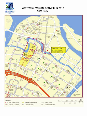 Waterway Passion Active Run 2012 5KM Fun Run Route