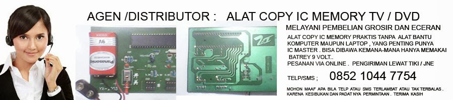 Alat copy IC memory TV dan DVD praktis
