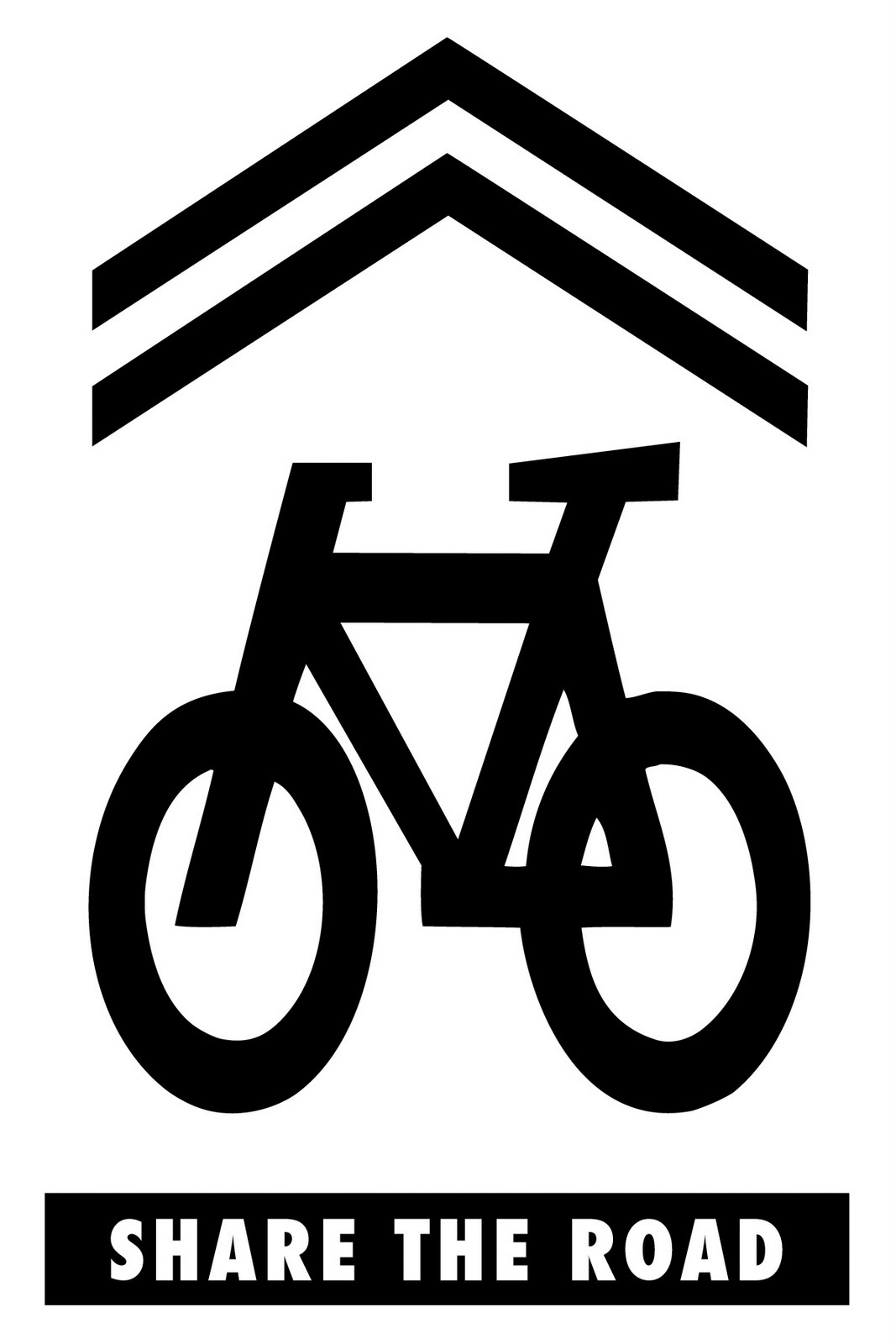 Bike Sharrow Stencils for Contemporary Art Bike