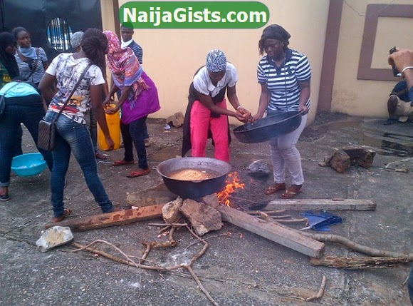 lasu students cooking fashola office
