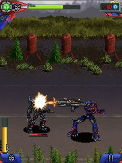 Screenshots of the Transformers: Dark of the Moon for java mobile, phone.