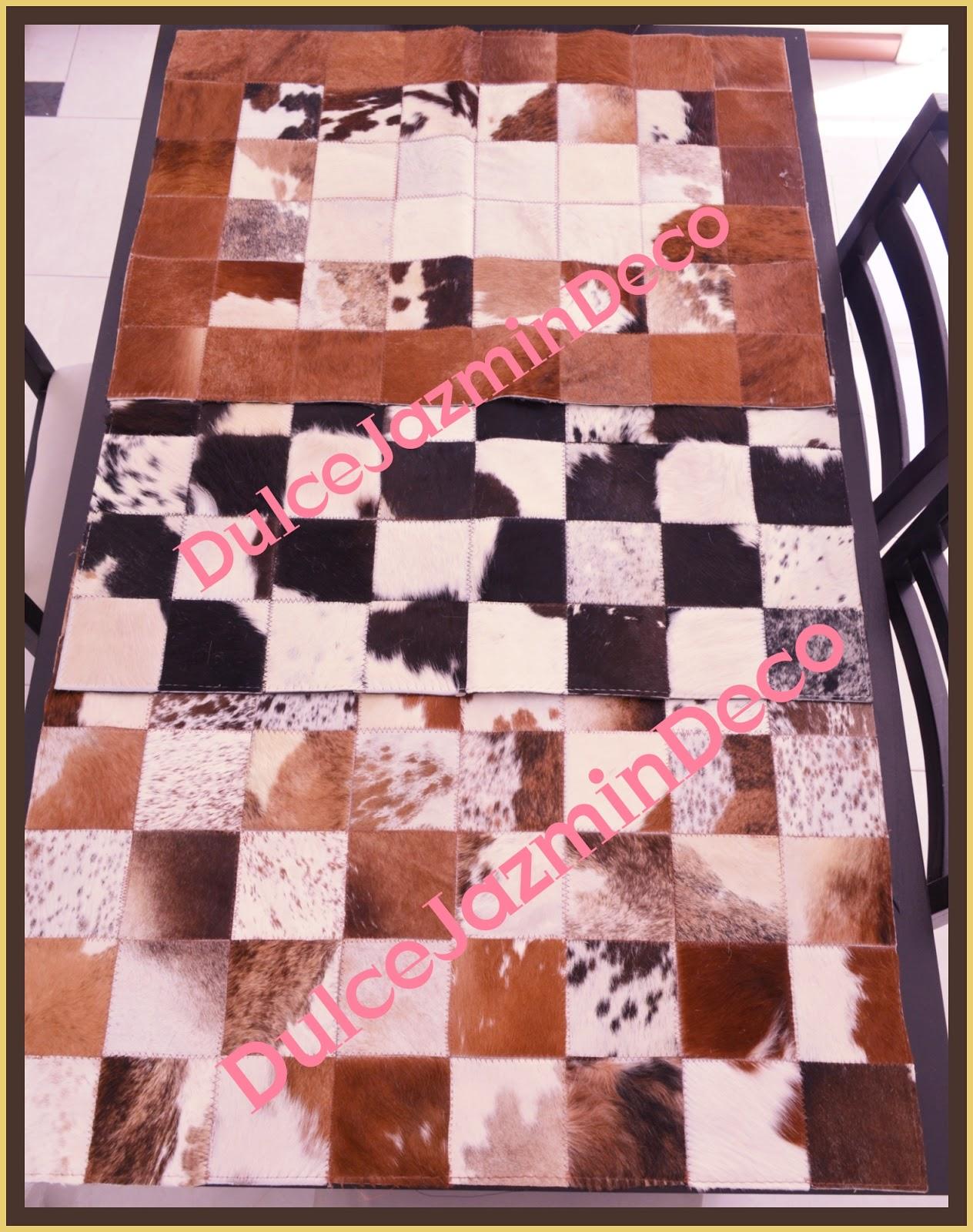 Caminos de mesa alfombras de cuero legitimo for Alfombras de cuero