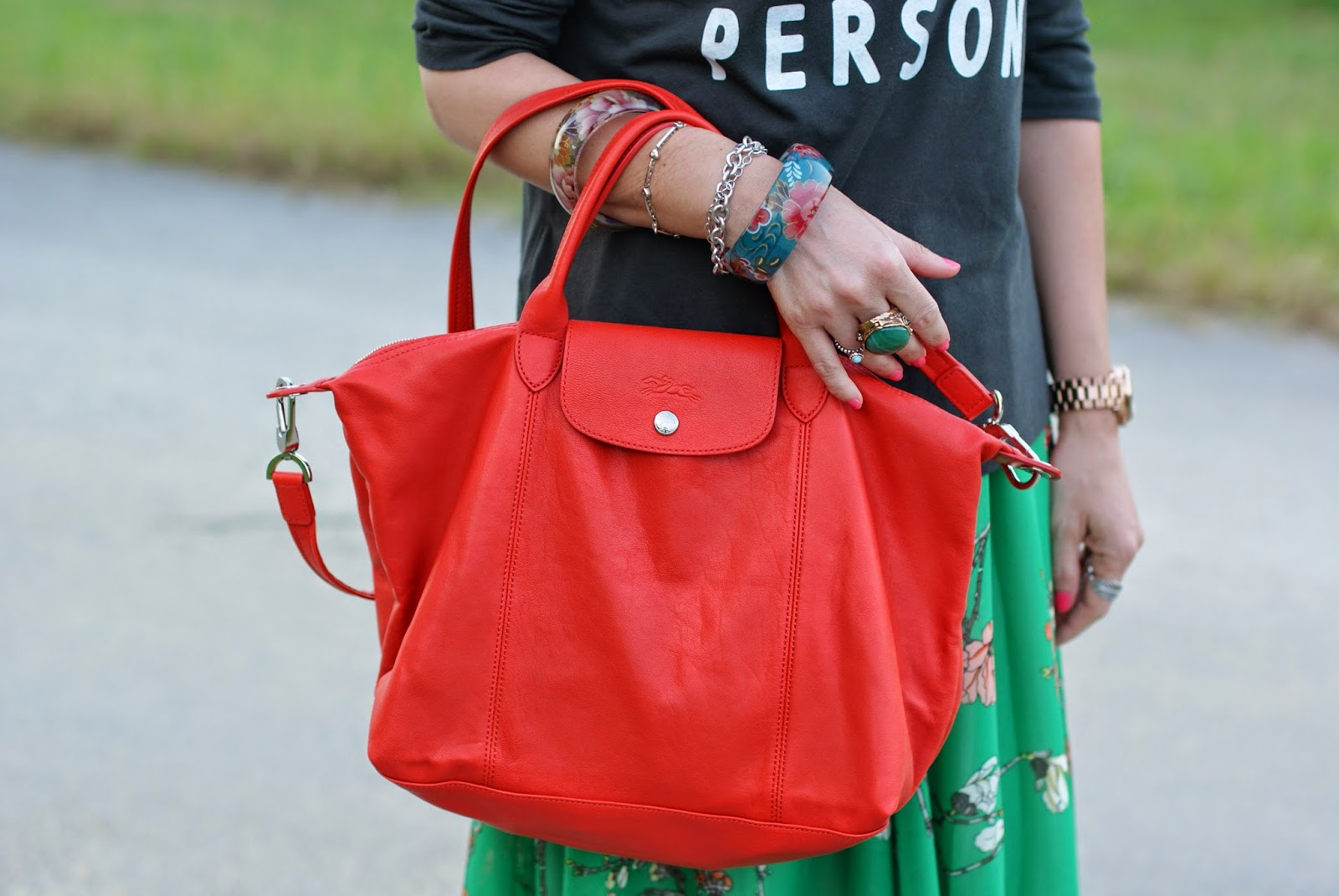 Longchamp Le Pliage cuir paprika, Fashion and Cookies, fashion blogger