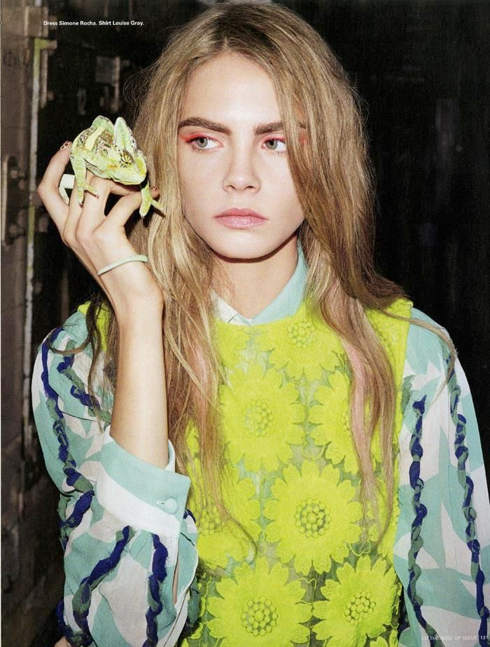 Cara Delevingne by Angelo Pennetta for i-D Winter 2012