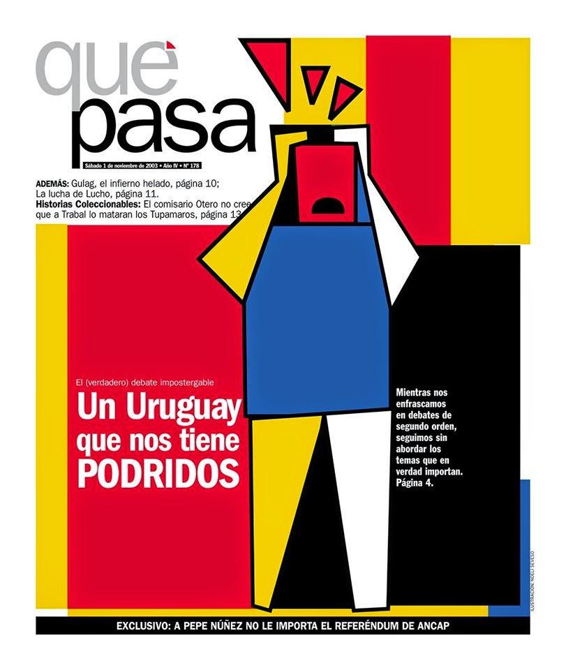 Suplemento Qué Pasa tapa Uruguay