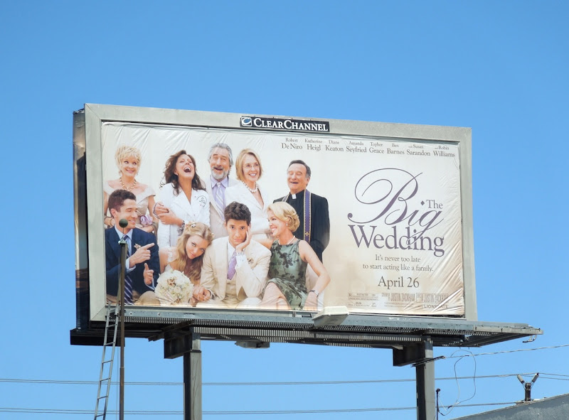 Big Wedding movie billboard