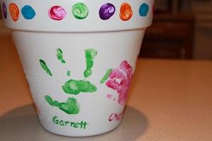 Hand painted kids flower pot