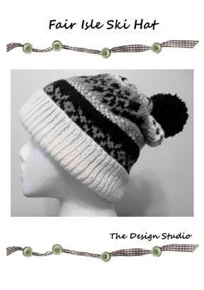 The Design Studio: Fair Isle Ski Hat. Hand Knitting Pattern.