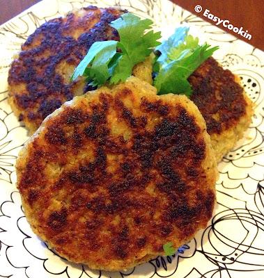quinoa aloo tikki – quinoa potato cakes