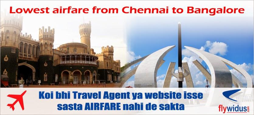 Flights from Chennai to Bangalore