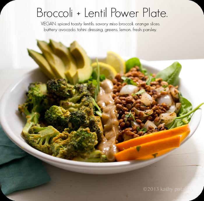 Savory Miso Broccoli + Spiced Lentil Power Plate! Vegan ...