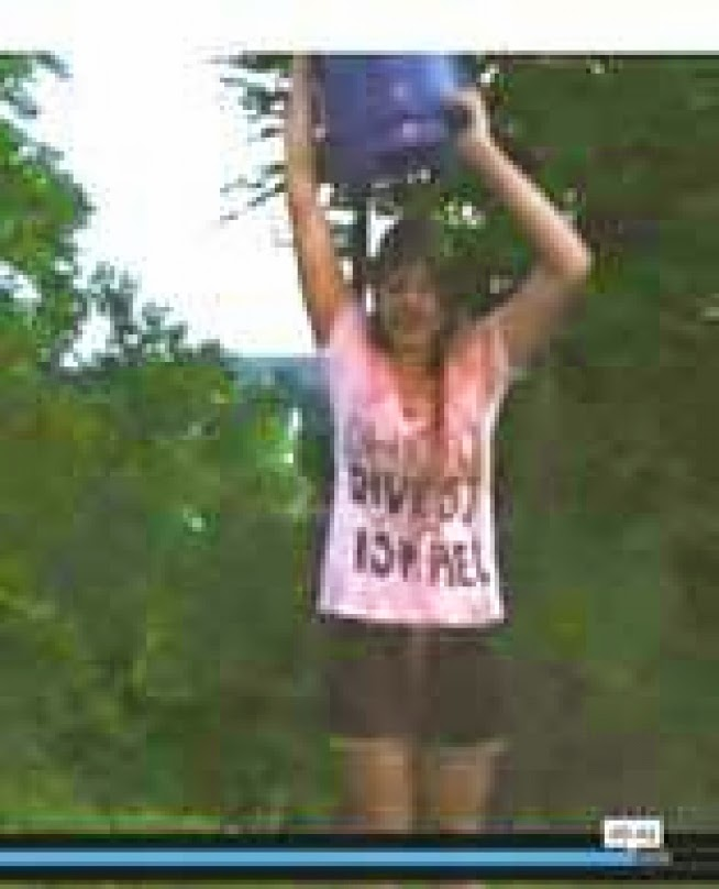 Ohio University's Anti-Israel Student President Does Blood Bucket Challenge Calling for BDS
