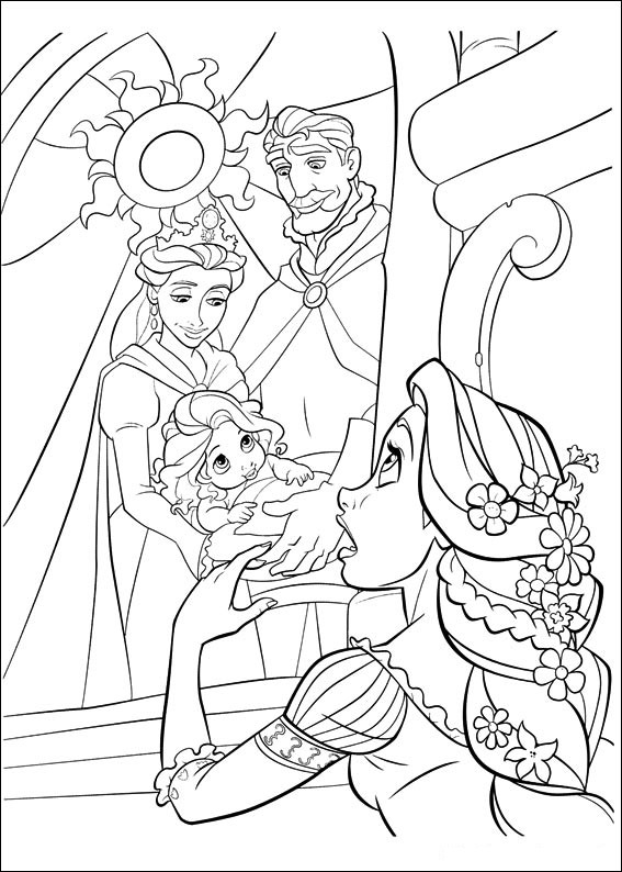 Imagenes De Rapunzel Bebe Para Colorear Imagui