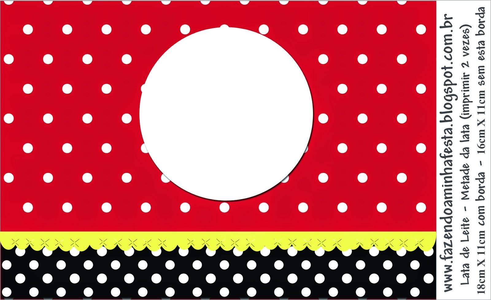 red black and white polka dots free printable candy bar labels
