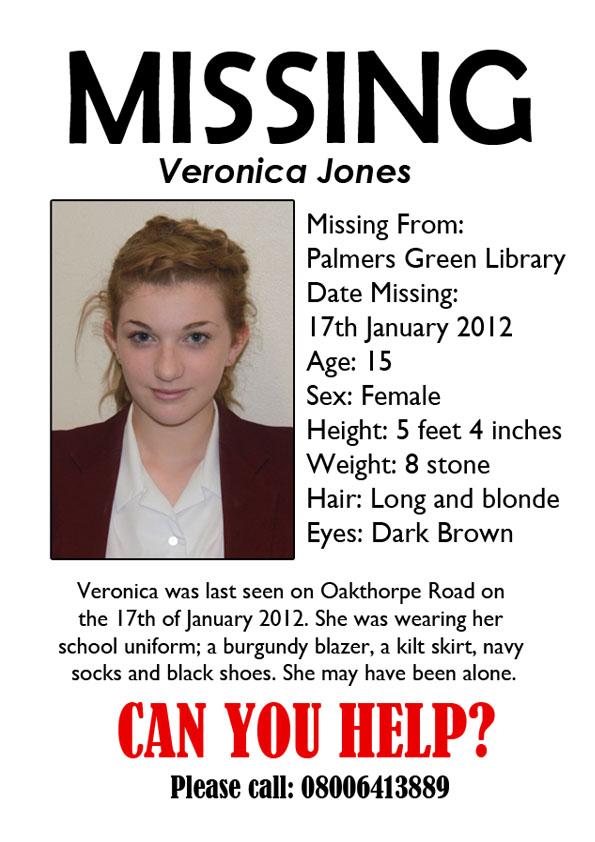 Mariannes Media Blog Missing Poster – Make Missing Poster