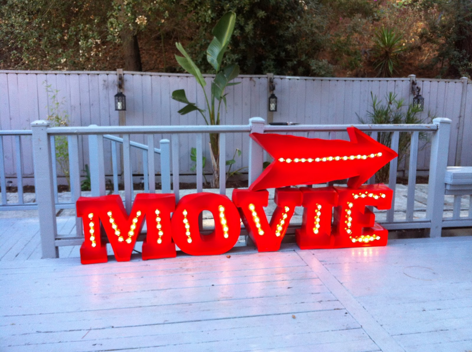 Movie Sign Lights