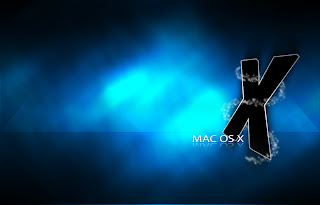 Mac OS X Wallpaper blue black