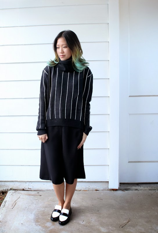 issa, forever21, vertical stripes, culottes