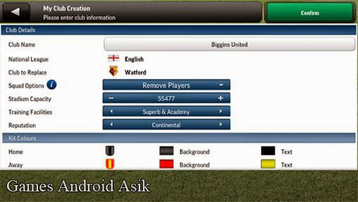 Android Games Football Manager Handheld 2014 Asik - 6