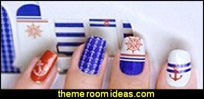 nautical themed Nail Art Sticker Nails Decal