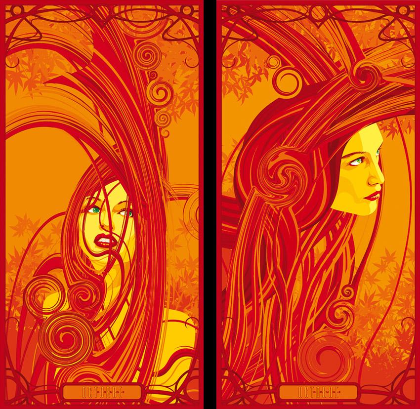 Octobre Rouge (détail) by Regis Lagoeyte