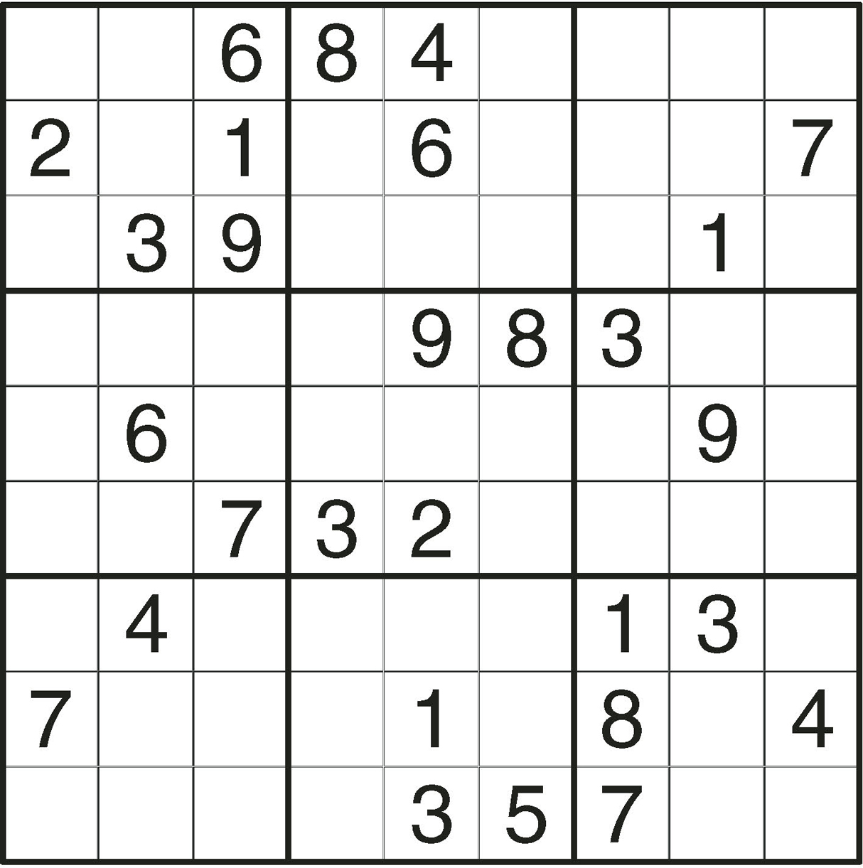It is a graphic of Gratifying Printable Sudoku Puzzles