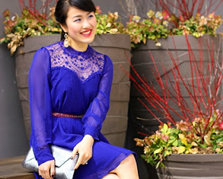 Blue Lace Spring Dress
