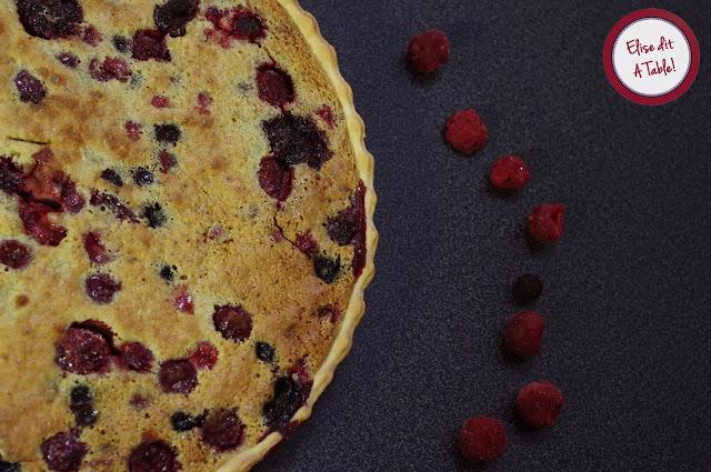 Tarte fruits rouges et pistache