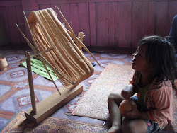 Textile with Child at Village