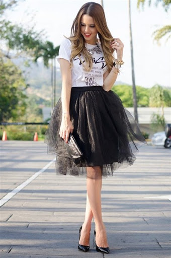 short black maxi tulle skirt