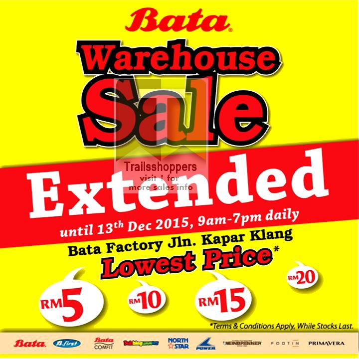 Bata Warehouse Sale Extended Malaysia Kasut