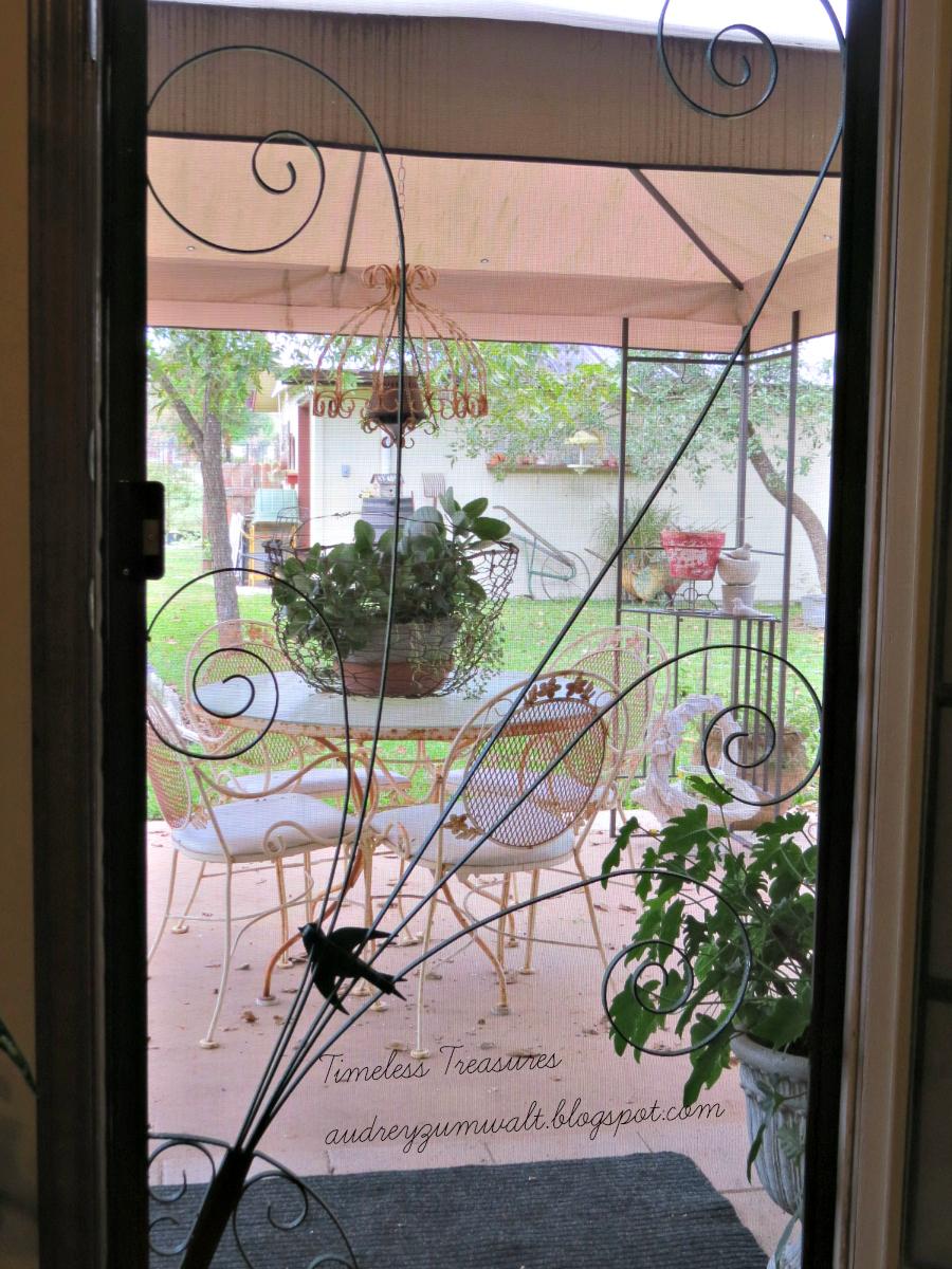 decorative storm door. the slamming of screen door  Timeless Treasures