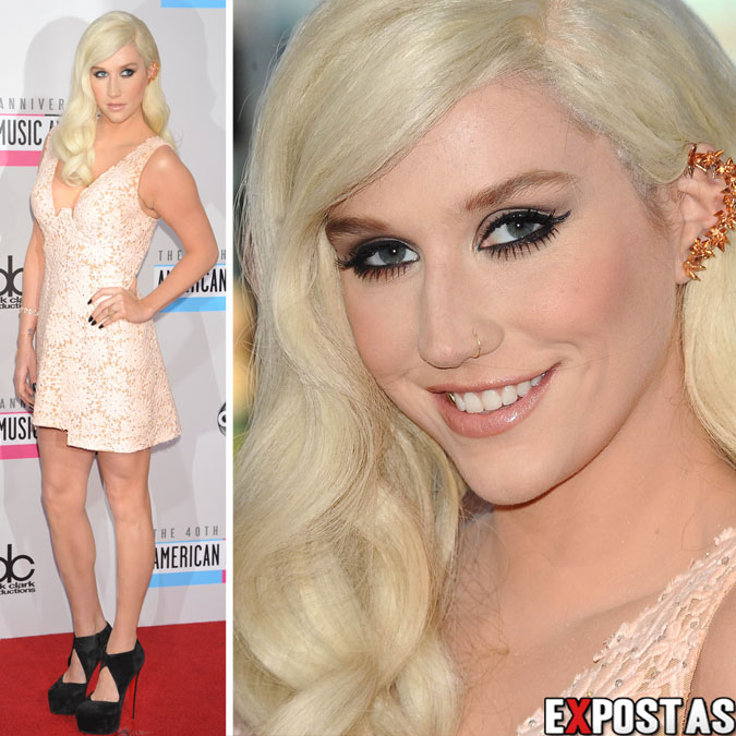Kesha Sebert (Ke$ha): 40th American Music Awards no Nokia Theatre em Los Angeles - 18 de Novembro de 2012