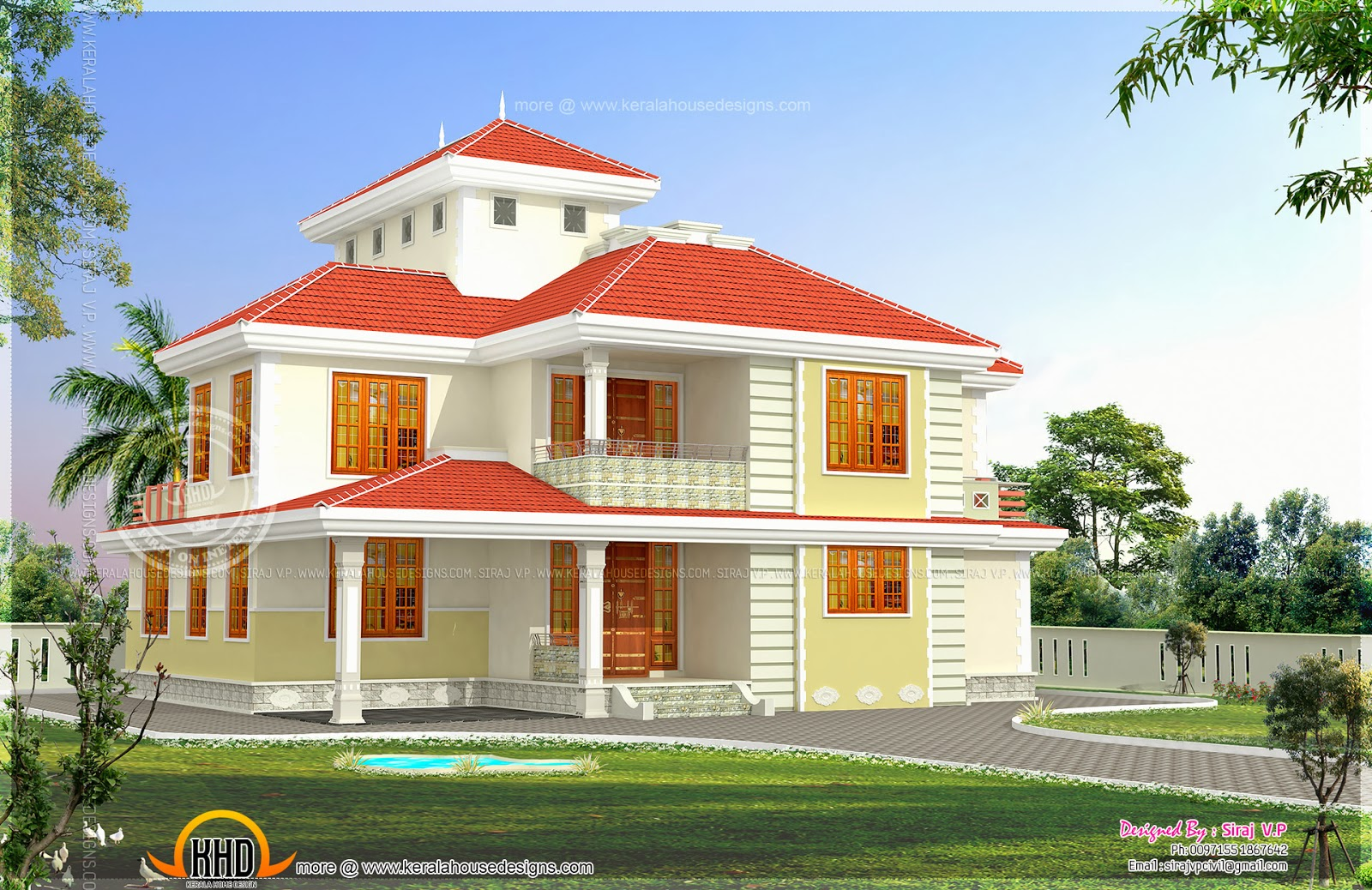 5 bedroom luxury house in kasaragod keralahousedesigns for Single door designs for indian homes
