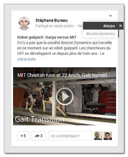 Les hashtags de Google+