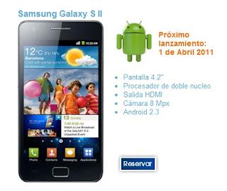 venta del Samsung Galaxy S2