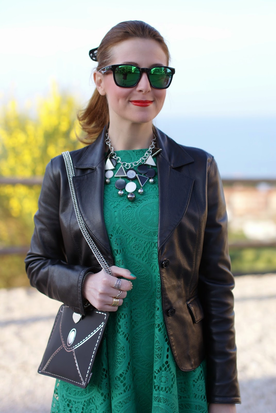 Vitti Ferria Contin jewelry, Today I'm me evening bag, Sheinside green lace dress, Fashion and Cookies, fashion blogger