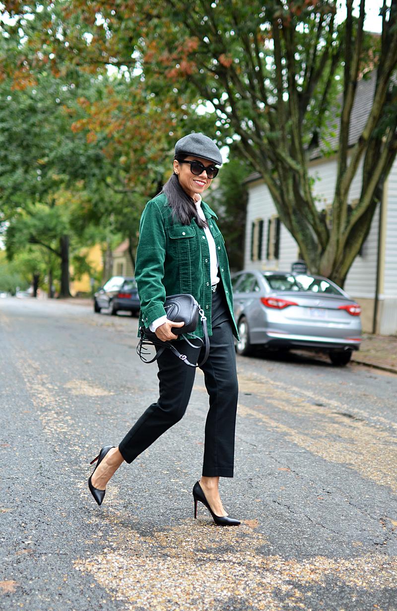 Corduroy jacket street style