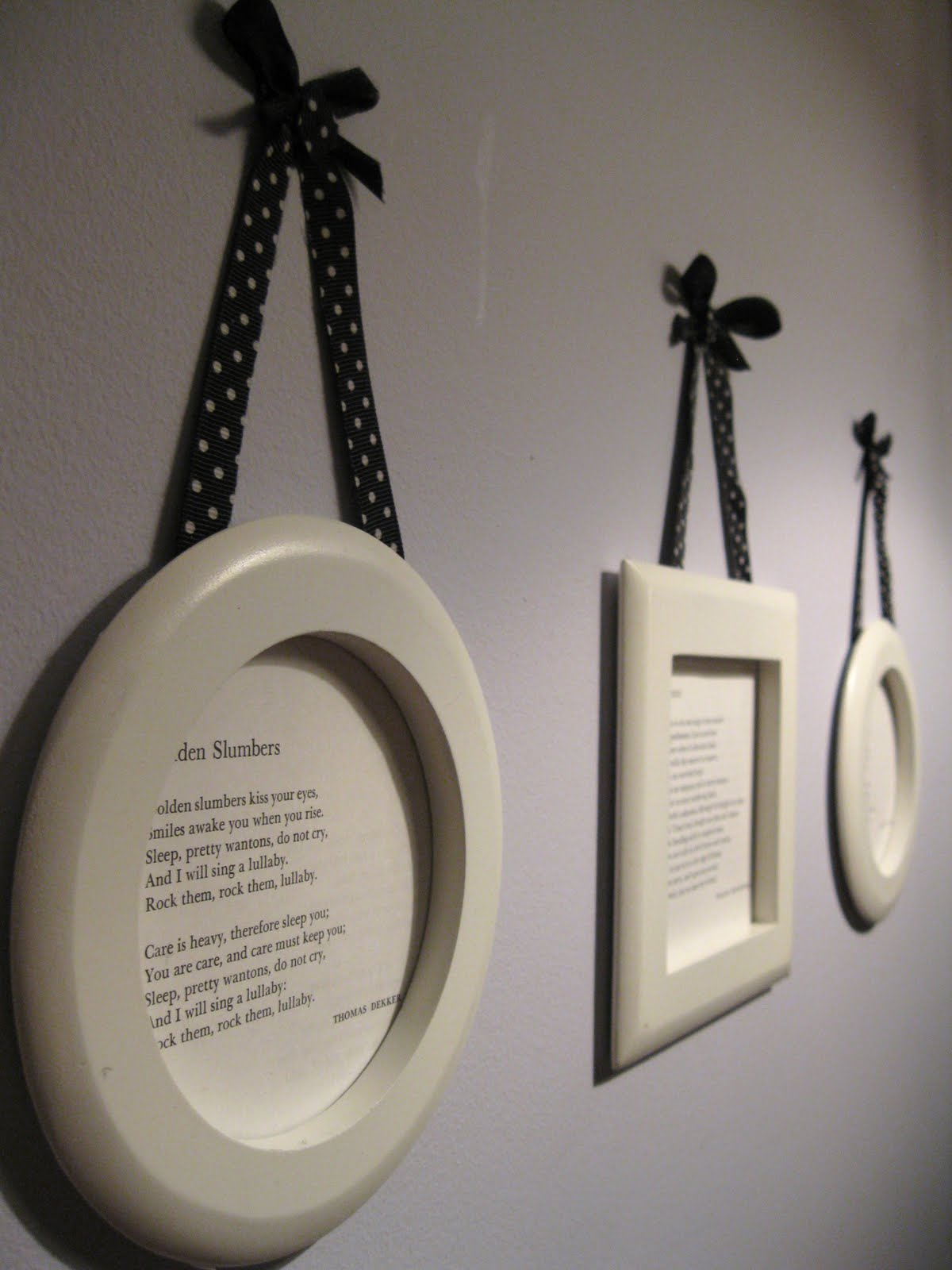 The New Romanticism: DIY: Hanging Framed Poetry