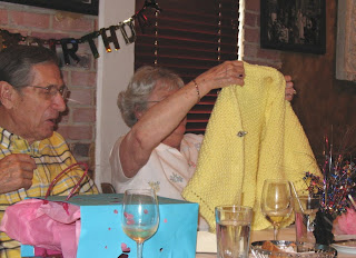 Mom holding up her shawl