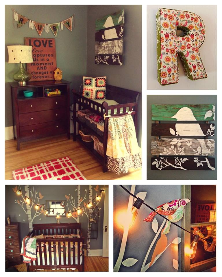 funky, colorful nursery, baby girl, DIY, eclectic. colorful
