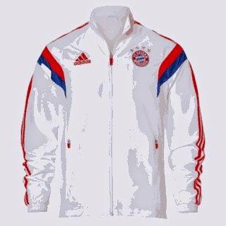 gambar jaket bayern Munchen terbaru warna putih terbaru musim 2014/2015