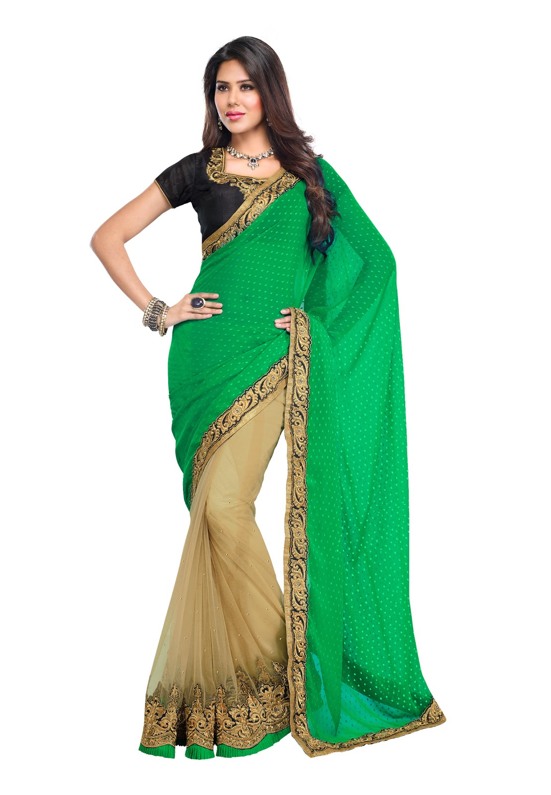 Image gallery saree amazon for Luxury online shopping