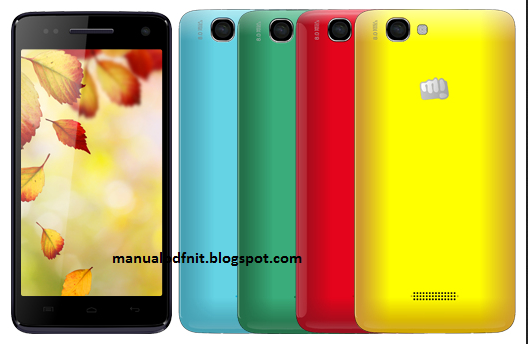 micromax a120 canvas colors manual user guide
