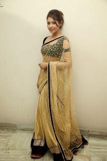 Actress Madhu Shalini Latest Pictures in Saree at Seethavalokanam Press Meet  026