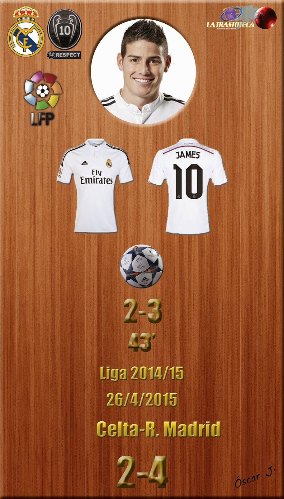 James Rodríguez (2-3) - Celta 2-4 Real Madrid - Liga 2014/15 - Jornada 33 - (26/4/2015)