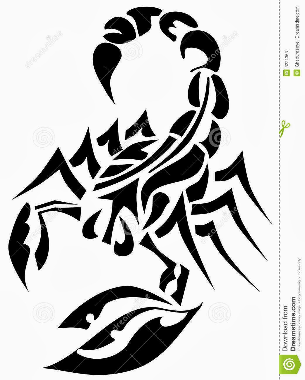 tatouage de scorpion tribal - Tatouage Scorpion Banque D'Images 123RF