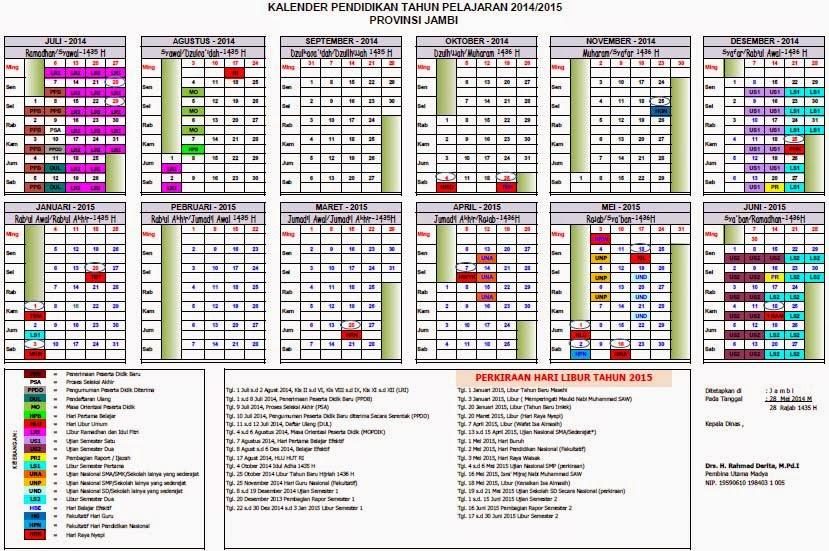 Kalender Pendidikan 2014 2015