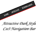 Attractive Dark Style Css3 Navigation Bar for Blogger